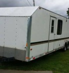 1995 32' Rathbun Enclosed Car Hauler / Hunting Trailer - $5200 (Davison, MI)