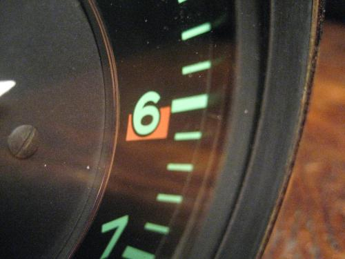 Close up Porsche 912 tachometer