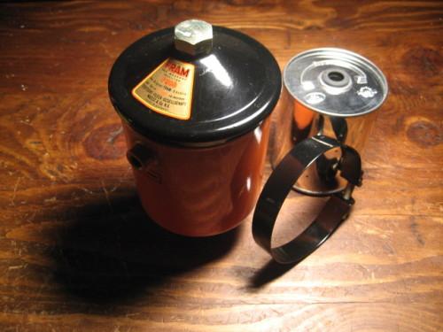 Porsche oil filter canister