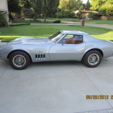 1969 Corvette Coupe Silver 75,000 miles – $21500 (Orion Township)
