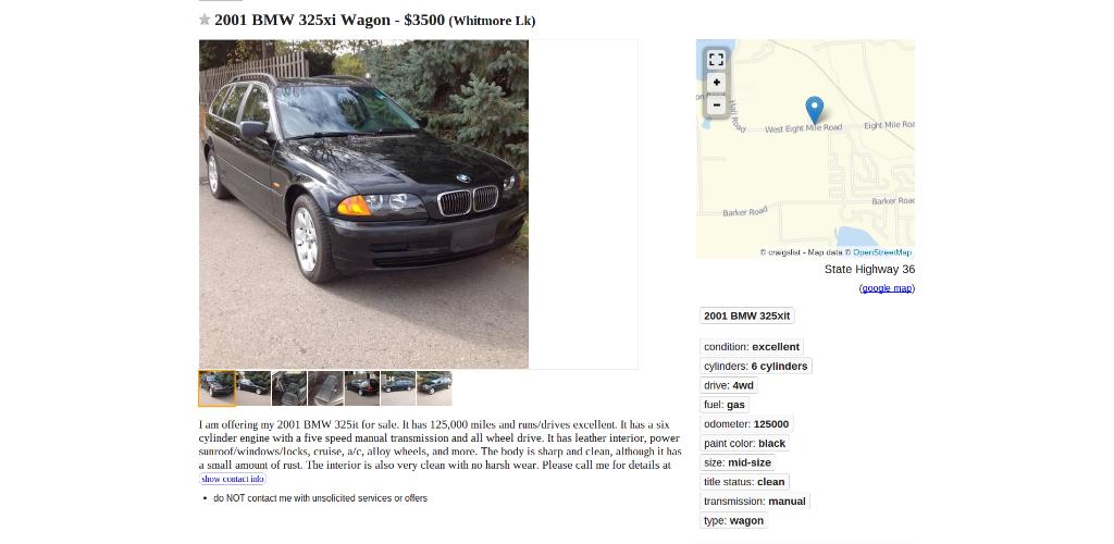 2001 BMW 325xi Wagon