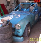 1966 Vintage MG Road Race Car no drive train - $2200 (monroe mi)