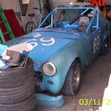 1966 Vintage MG Road Race Car no drive train – $2200 (monroe mi)